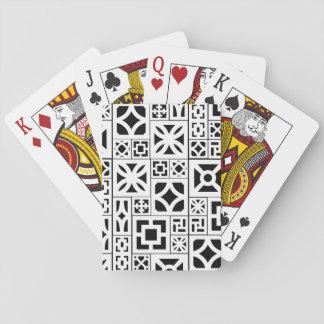 Breeze-block playing cards