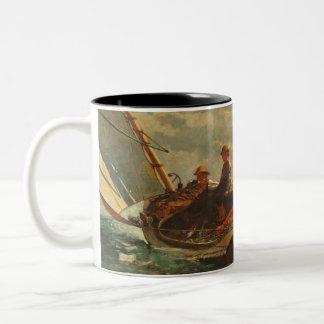 Breezing Up (A Fair Wind) 1873-76 Two-Tone Coffee Mug