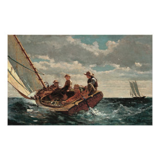 Breezing Up A Fair Wind by Winslow Homer Poster
