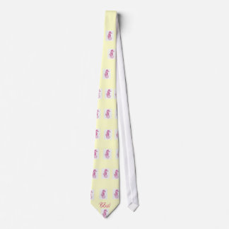 Breezy Beach Wear Nantucket Pink Sea Horse Neck Ti Tie