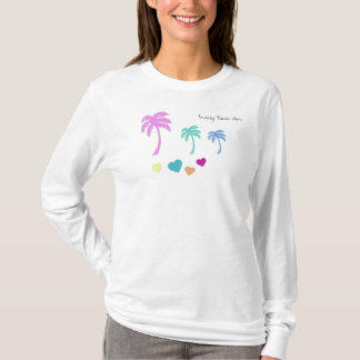 Breezy Beach Wear Retro 80s Beach Style T-Shirt