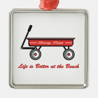Breezy Point Little Red Wagon Ornament