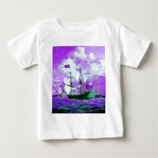 Breezy, Ships, Ocean, Sea, Waves Baby T-Shirt