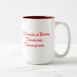 BREIZH BRETAGNE BRITAIN malouin Two-Tone Coffee Mug
