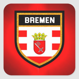 Bremen Flag Square Sticker