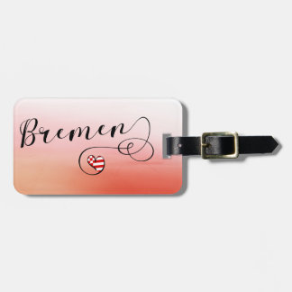 Bremen Heart Luggage Tag Template, Germany