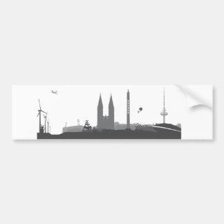 Bremen skyline stickers bumper sticker