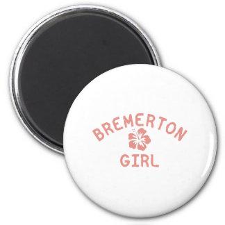Bremerton Pink Girl Magnet