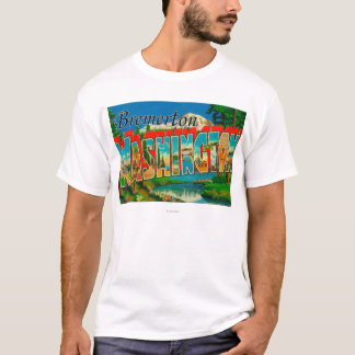 Bremerton, Washington - Large Letter Scenes T-Shirt
