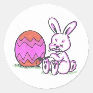 Brenda Bunny Round Sticker