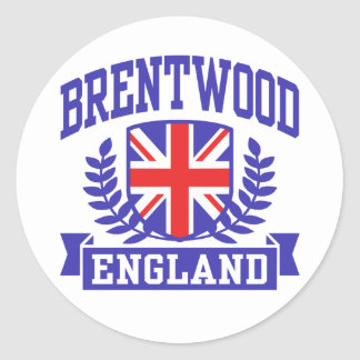 Brentwood England Classic Round Sticker