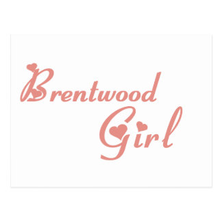 Brentwood Girl tee shirts Postcard