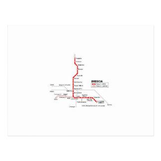 Brescia subway postcard
