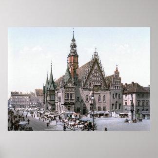 Breslau Rathaus Poster
