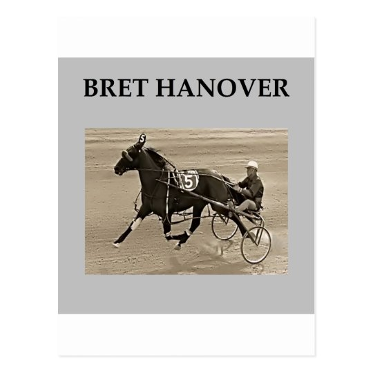 bret hanover harness racing postcard