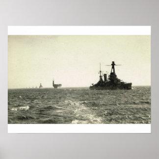 Bretagne Class Battleship,leading flotilla Poster