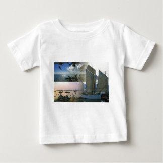 Breton boat  and rocky coast baby T-Shirt