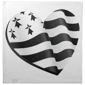 Breton flag heart napkin