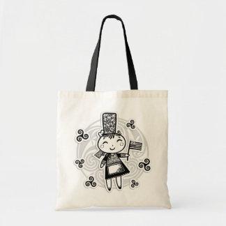 Breton girl tote bag