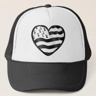 Breton heart trucker hat