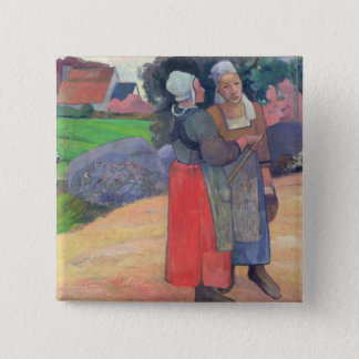 Breton Peasants, 1894 2 Inch Square Button