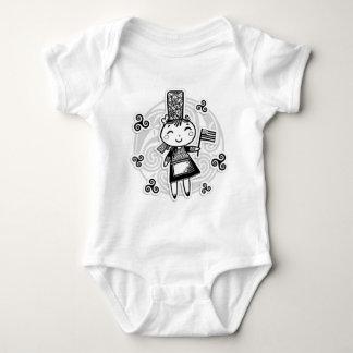 Bretonne fille baby bodysuit