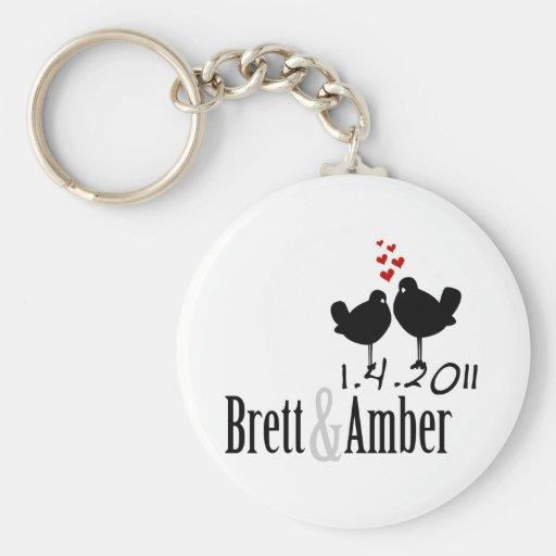 Brett & Amber Custom Wedding Logo Key Chain