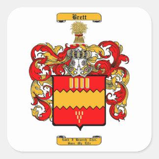 Brett (English) Square Sticker