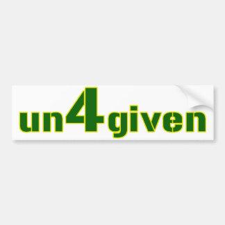 Brett Favre Un4given Bumper Sticker