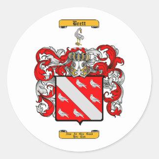 Brett (Irish) Round Sticker