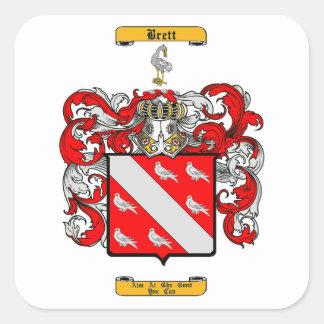 Brett (Irish) Square Sticker