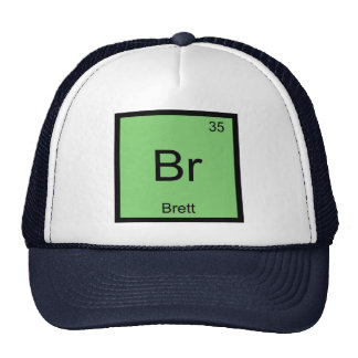 Brett Name Chemistry Element Periodic Table Mesh Hat