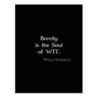 Brevity is the Soul of Wit Shakespeare Quote Postcard