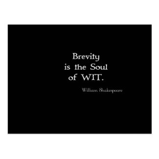 Brevity is the Soul of Wit Shakespeare Quote Post Cards