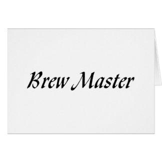 Brew Master Greeting Card