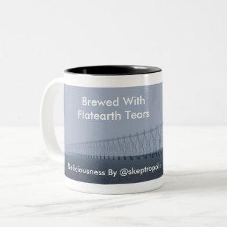 Brewed With Flatearth Tears Two-Tone Coffee Mug