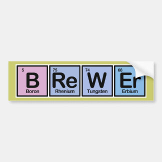 Brewer made of Elements Bumper Sticker