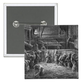 Brewers at Work 2 Inch Square Button
