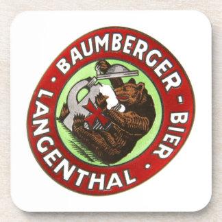 Brewery Baumberger Langenthal cork reductor Coaster