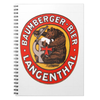 Brewery Baumberger Langenthal note booklet Notebook