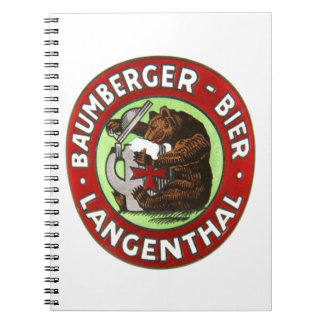 Brewery Baumberger Langenthal note booklet Spiral Notebook