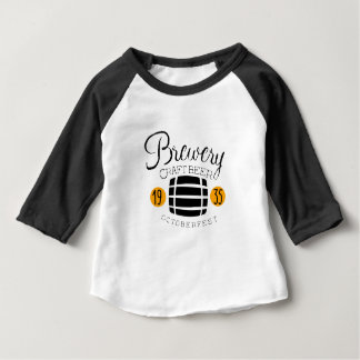Brewery Logo Design Template With Barrel Baby T-Shirt