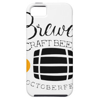 Brewery Logo Design Template With Barrel iPhone 5 Cases