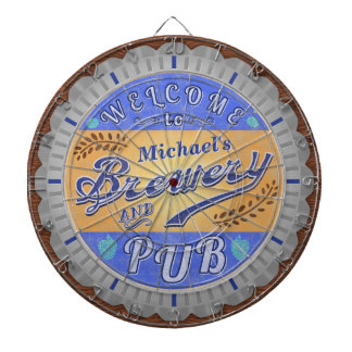 Brewery Pub Personalized Beer Bottle Cap Dartboard