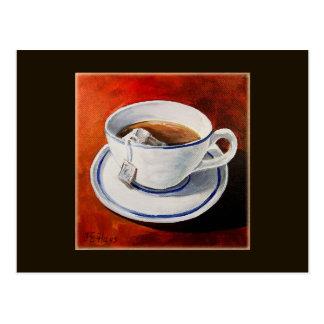 Brewing Tea in a Cup Postcard