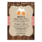 Brews Before The I Do's Red Couple's Shower Invite