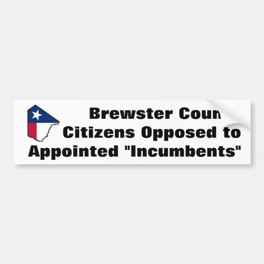 Brewster County Texas bumper sticker