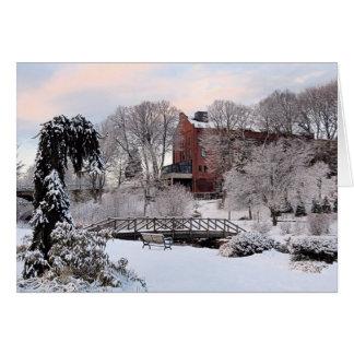 Brewster Gardens in Winter Card