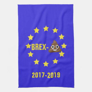 Brex-💩2017-2019 EU Flag/Brexit Tea Towel