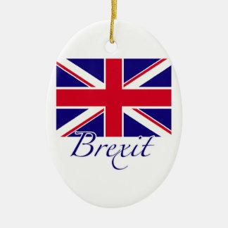 Brexit 1 ceramic oval ornament